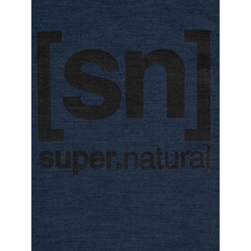 super.natural Essential I.D. Camiseta Mujer, blue iris melange/jet black logo